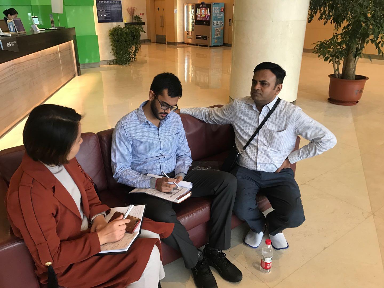 Reception Indian clients in Zhengzhou